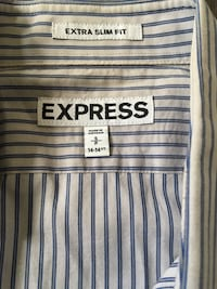Express homme dress shirt extra slim fit small Paris, 75019