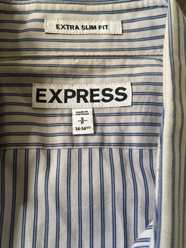 Express homme dress shirt extra slim fit small