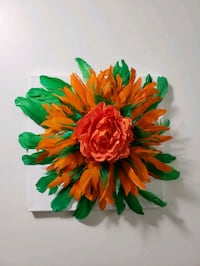 3 D feather flower wall art, new  Mississauga, L5M 0A5