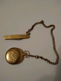 Mens Gold Majestron Pocket Watch