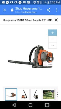 Husqvarna backpack leaf blower *BRAND NEW Lincolnville, 29485
