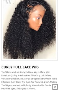 HUMAN HAIR CURLY WIG from white label hair Toronto, M6K 1G8