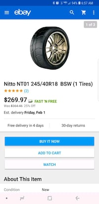 245/40/18 nitto nt01 drag radials  Dover, 19904