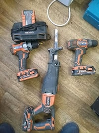 Rigid two drills sawzaw extra batterie and one cha Arvada, 80003