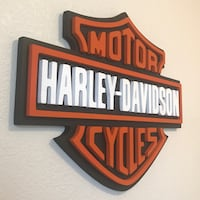 Harley 3D wood wall art