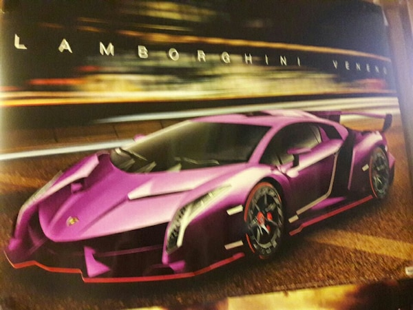 Used Purple Lamborghini Veneno Poster For Sale In Fort Madison Letgo