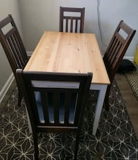 Butcher Block Style Table with 4 chairs  Wilmington, 19802