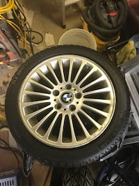 4 BMW 3 series rims with Michelin x ice winter tires