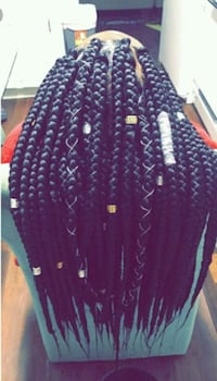 medium box braids full and long  Washington, 20020