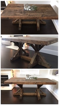 6FT x 3FT Solid Wood Rustic Farmhouse Dining Table Stockton