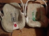 two baby carriers