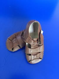 Size 0-12 month brown all leather Pedipeds soft first shoes Greenville, 27858
