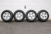 Factory mounted tires/wheels 255/70R DAMASCUS