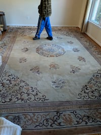 white and brown floral area rug Silver Spring, 20906