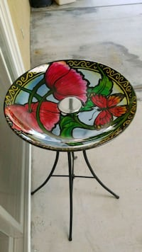 round white, red, and green floral ceramic bowl Anaheim, 92806