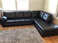 Brand new Kroehler black leather sectional for sale 18 km