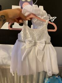 0-3 months white baby dress new Mississauga, L5B 2C9