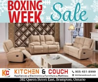 BOXING EXTENDED - Get a recliner on lowest price in gta. Brampton