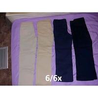 6/6x uniform pants