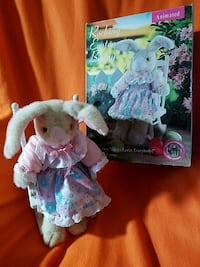 Plush Easter bunny in rocking chair animated Franklin, 53132
