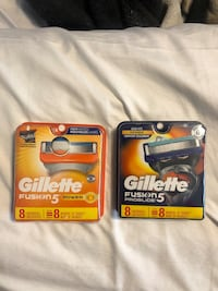 gillette fusion 5 shaver blades 8 in pack . 15$ each firm ... little cheaper if you want 10 or more ... Surrey, V3X 1G3