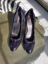 Authentic Prada Purple Patent Leather Heels  Alexandria, 22312