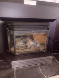 black and brown electric fireplace null