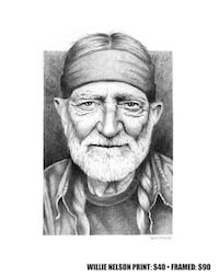 Willie Nelson drawing  Beaumont, T4X 1C6