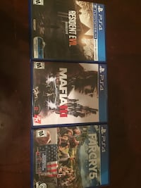 Three sony ps4 game cases Beltsville, 20705