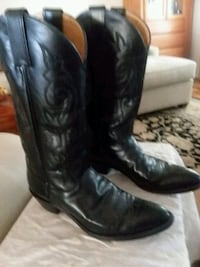 black leather cowboy boots(JUSTIN) 2049 mi