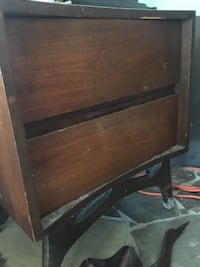Wood 2 drawer side table Smith-Ennismore-Lakefield, K0L