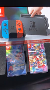 N Switch with 2 Mario Games