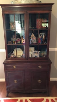 brown wooden cabinet with hutch Madison, 39110