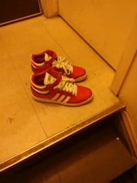 Red Adidas  patent leather slightly used