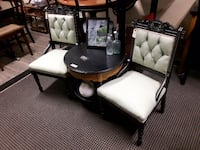 Antique Victorian Black and Green Tea Eastlake Chairs Stayner