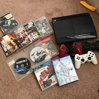Sony PS3 super slim console with controller and game cases Hyattsville, 20785