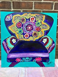 Eclectic Purple Chair acrylic painting  Austin, 78731
