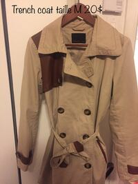 brown and black button-up coat
