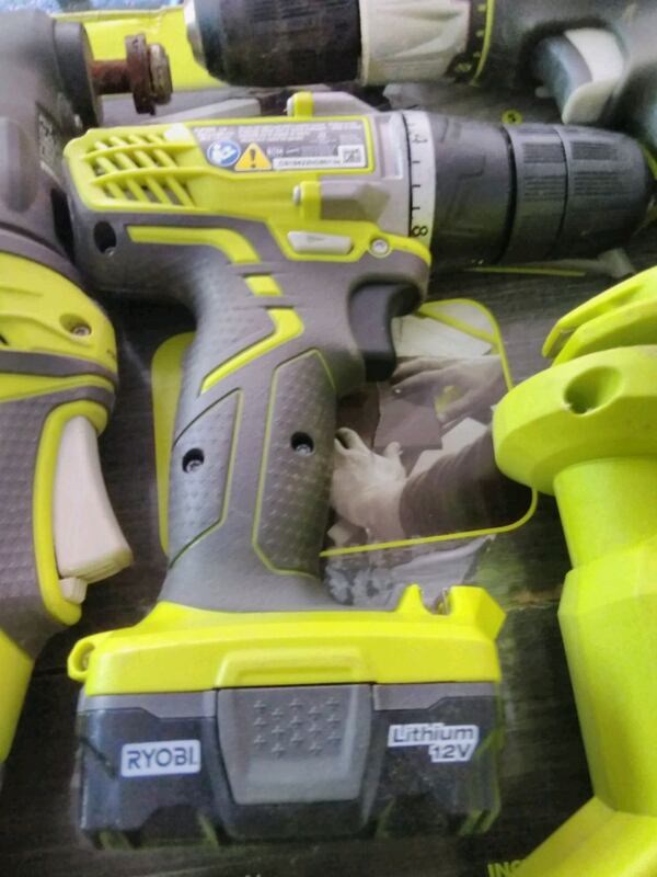 Lot of Ryobi power tools most by all  567710b4-cefe-4f5a-9574-938169eae2af