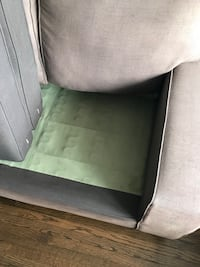 gray and green fabric sofa chair Toronto, M3M