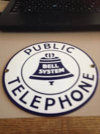 Vintage bell system phone company sign New Haven, 06510
