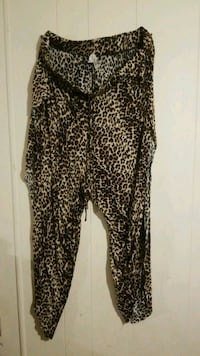 women's black and brown leopard print pants Edcouch, 78538