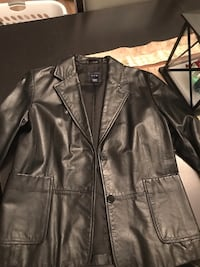 Women's black leather jacket- from the Gap size 1