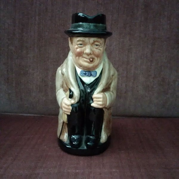 Antique Vintage Royal Doulton - Winston Churchill Toby Creamer