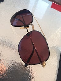 black and red framed Ray-Ban aviator sunglasses 357 mi