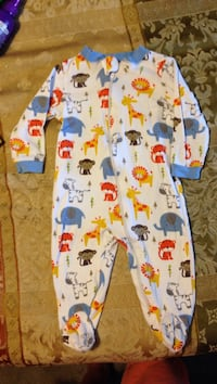 baby's white and blue footie pajama Mary Esther, 32569