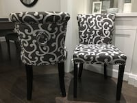 2 accent chairs light grey and dark grey contrast  Toronto, M6G