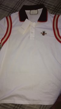 Gucci cotton polo with bee Whitby, L1M
