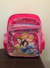 red and white Disney Princess print backpack Calgary, T2A 4H7