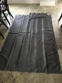 Grey window curtain panels.   Length 85 inches , width 54 inches Mississauga, L4Z 3Y9